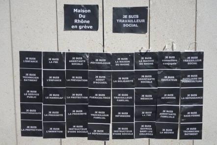 Le mur des Territoriaux de la métropole de Lyon